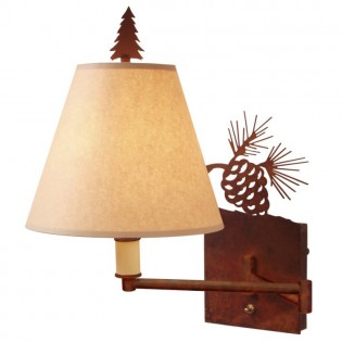 Pine Cone Swing Arm Wall Lamp