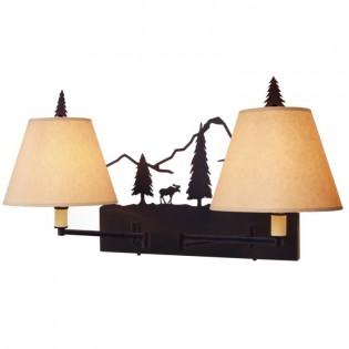 Timber Ridge Moose Double Swing Arm Wall Lamp