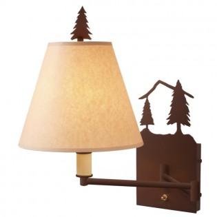 Timber Ridge Pine Tree Swing Arm Wall Lamp