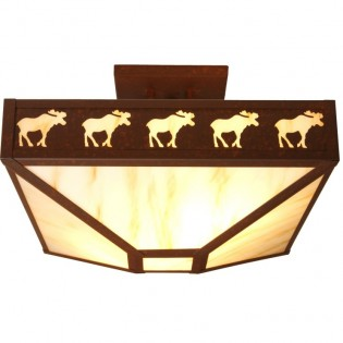 Band of Moose 4 Post Ceiling Light