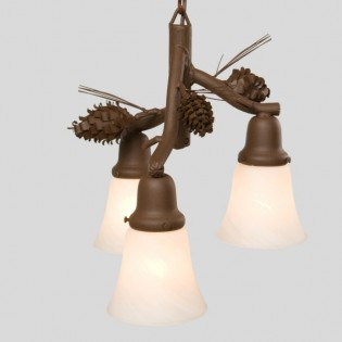 Glacier Three Light Pine Cone Pendant Light