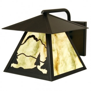 Timber Ridge Outdoor Sconce with Roof