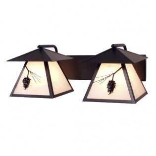 Ponderosa Pine Twin Prairie Vanity Light
