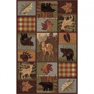 Wildlife Patch Rug from The Cabin Place!