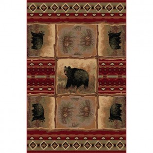 Sedona Bear Rug from The Cabin Place!