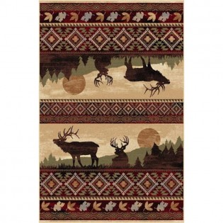 Tayse Rugs Nature Red Area Rug