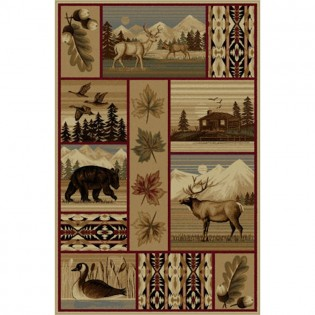 Wilderness Pass Rug from The Cabin Place!