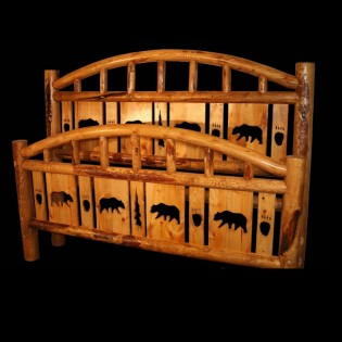 Arch Log Bed with Bear Cutouts