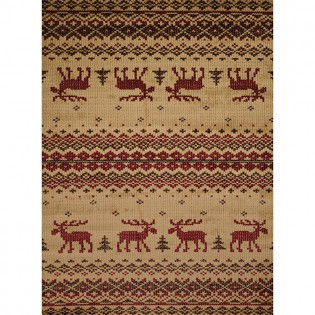 Embroidered Moose Area Rugs