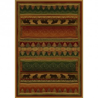 Bear Walk Rug from The Cabin Place!