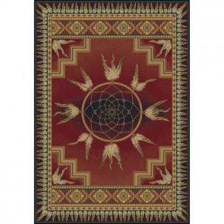 Southwest Dream Catcher Rug from The Cabin Place!
