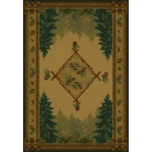 Forest Trail Rug from The Cabin Shop!