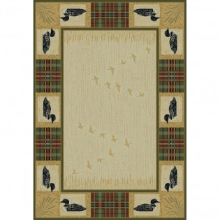 Tartan Loon Duck Rug from The Cabin Place!