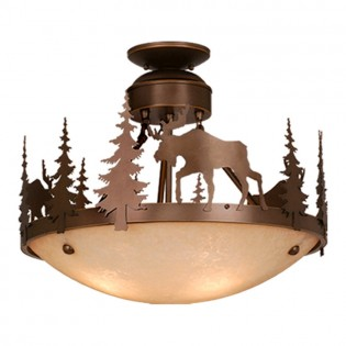 Yellowstone Moose Semi-Flush Ceiling Light
