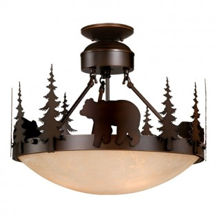 Bozeman Bear Semi-Flush Ceiling Light