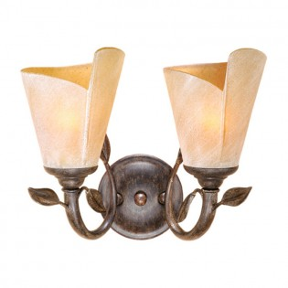 Capri Leaf Double Vanity Light