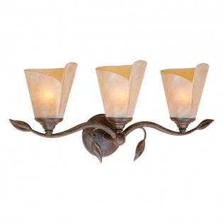 Capri Leaf Triple Vanity Light
