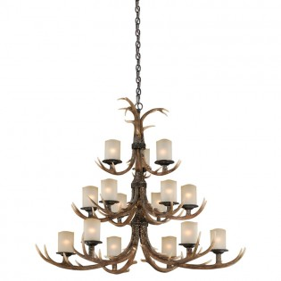 Yoho Faux Antler 15 Light Chandelier