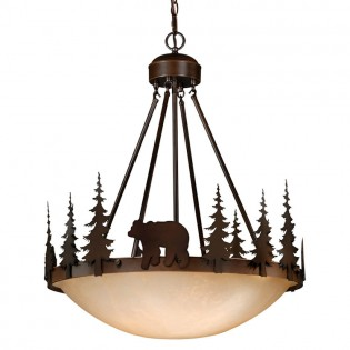 Bozeman Bear Inverted Pendant Light