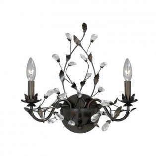 Crystal Trellis Double Sconce