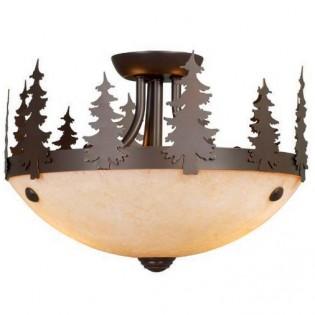 Yosemite Pine Tree Semi Flush Ceiling Light