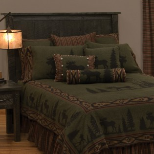 Twin Pine Moose Coverlet