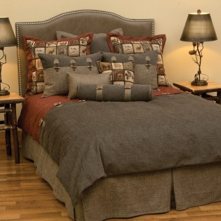 Silver Thicket Duvet Cover-Full/Queen