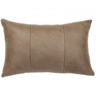 3 Panel Silver Fox Leather Pillow