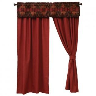 Ruby Red Drapes & Luminaria Valance