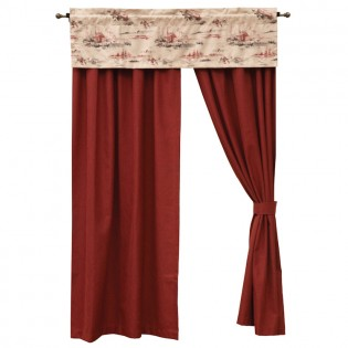 Ruby Red Drapes and Cimarron Valance