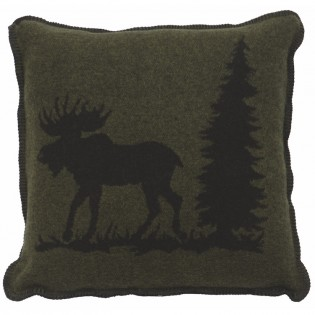 Pine Moose Accent Pillow