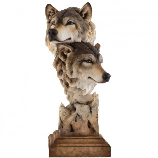 Kindred Wolves Sculpture