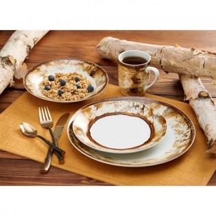 Hardwood Forest 16 Pcs Dinnerware