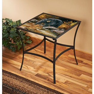 Stream Side Bear Accent Table