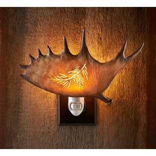Antler Night Light - Pinecone