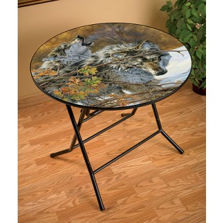Wolves Folding Table