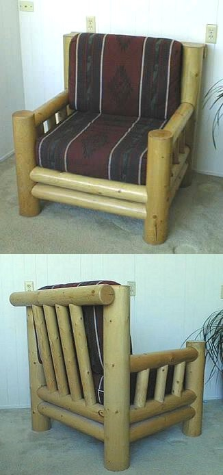 Lodge Pole Pine Log Armchair