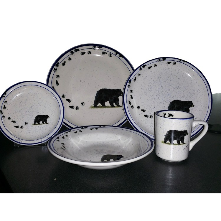 sc 1 st  The Cabin Shop & Black Bear and Tracks Lodge Dinnerware