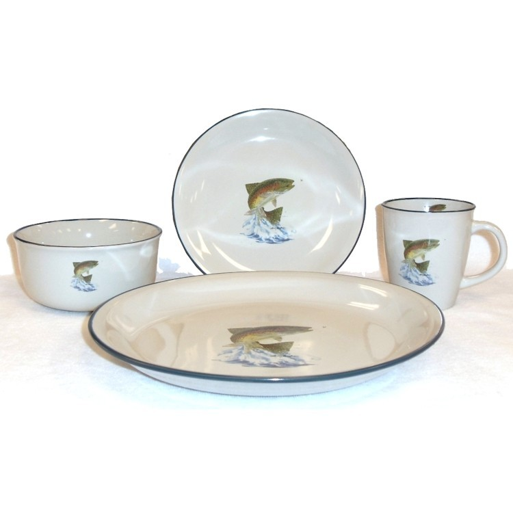 Rainbow Trout Dinnerware - DISCONTINUED  sc 1 st  The Cabin Shop & Rainbow Trout Dinnerware