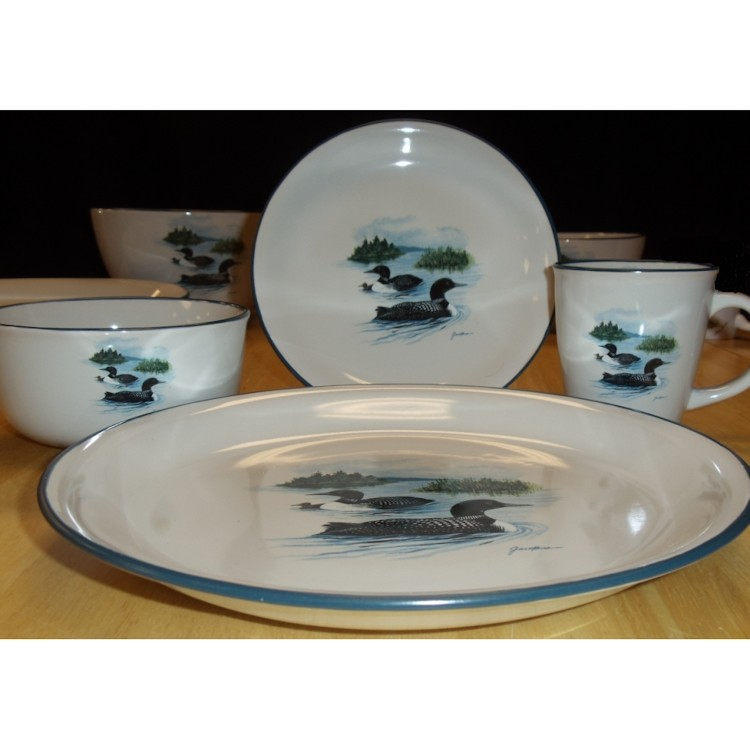 Cabin Loon Dinnerware
