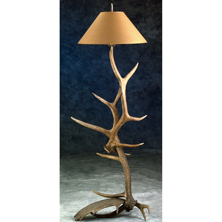 Moose Elk Antler Floor Lamp