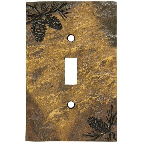 Plates For Sale >> Rustic Pine Cone Switch Plates