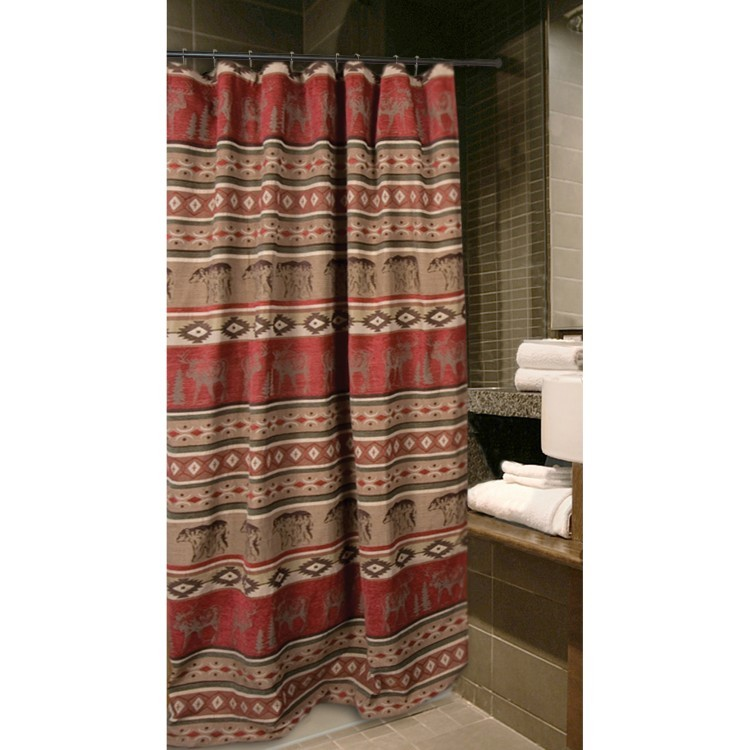 Adirondack Bear Moose Shower Curtain