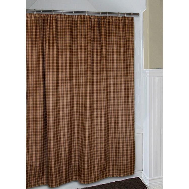 Cart Moose Plaid Shower Curtain