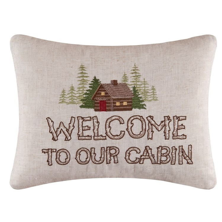 Rustic Retreat Welcome Pillow   CLEARANCE