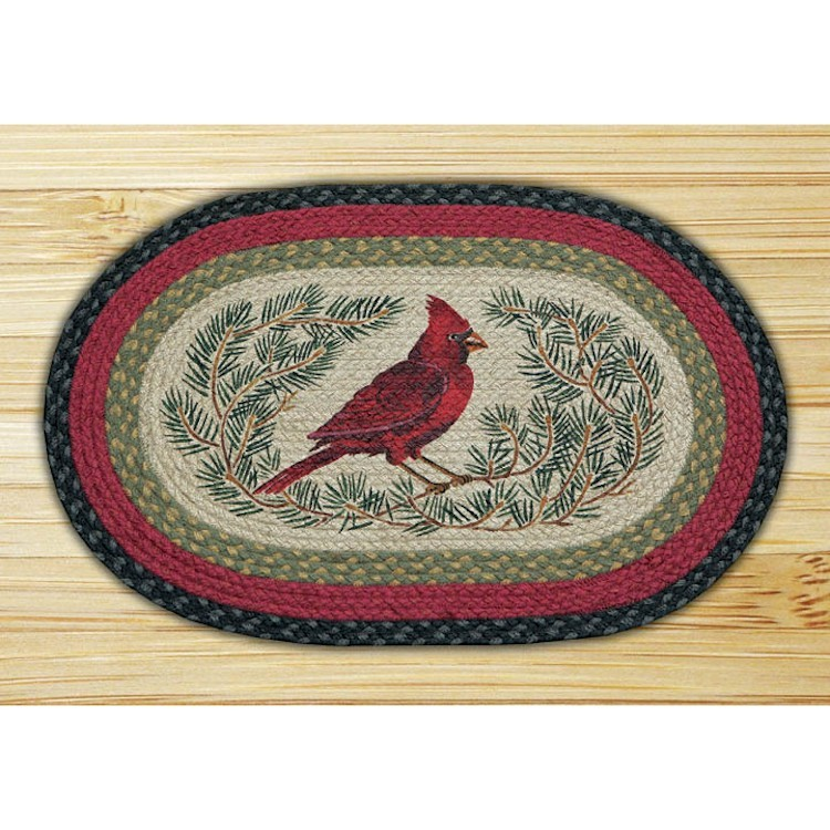 Cardinal In The Pines Jute Rug