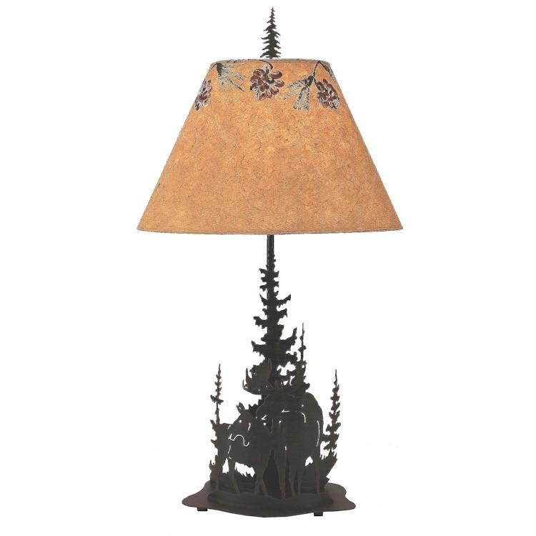 Wilderness moose table lamp aloadofball Gallery
