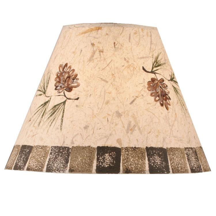 Stenciled Pine Cone Lamp Shade