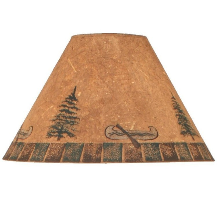 Canoe and pine tree lamp shades canoe and pine trees lamp shades mozeypictures Images