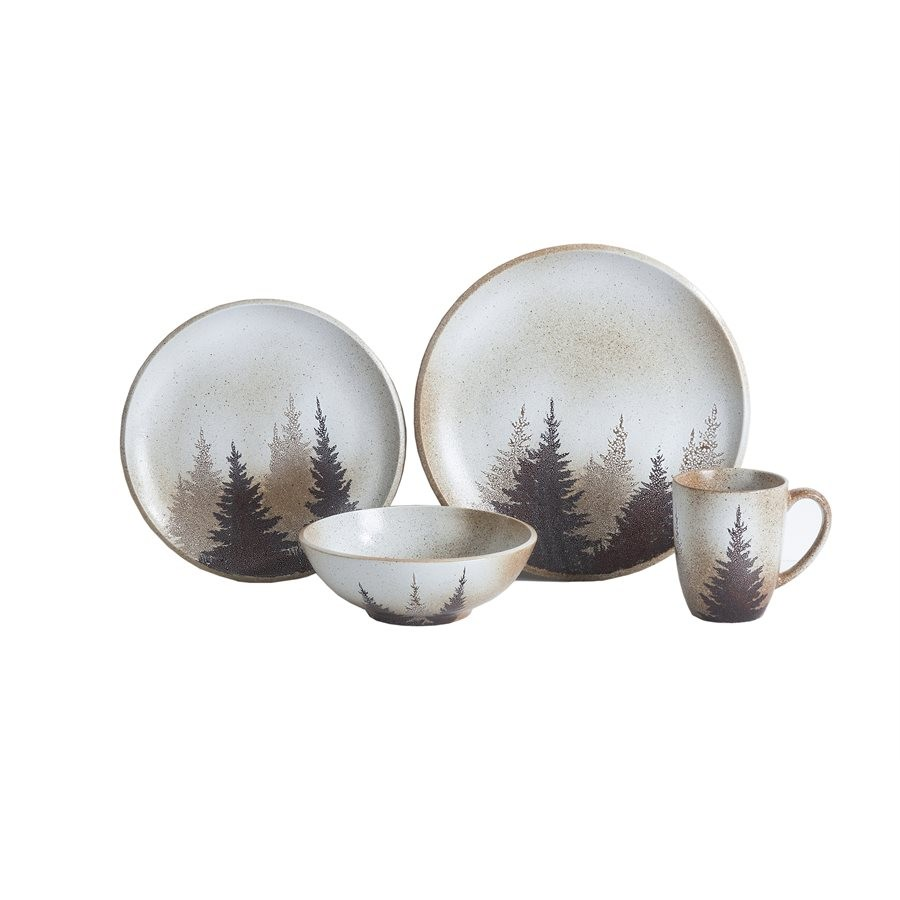sc 1 st  The Cabin Shop & Clearwater Pines 16 Piece Dinnerware Set